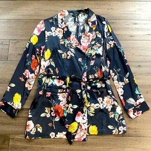 Afrm floral jacket silky satin fabric